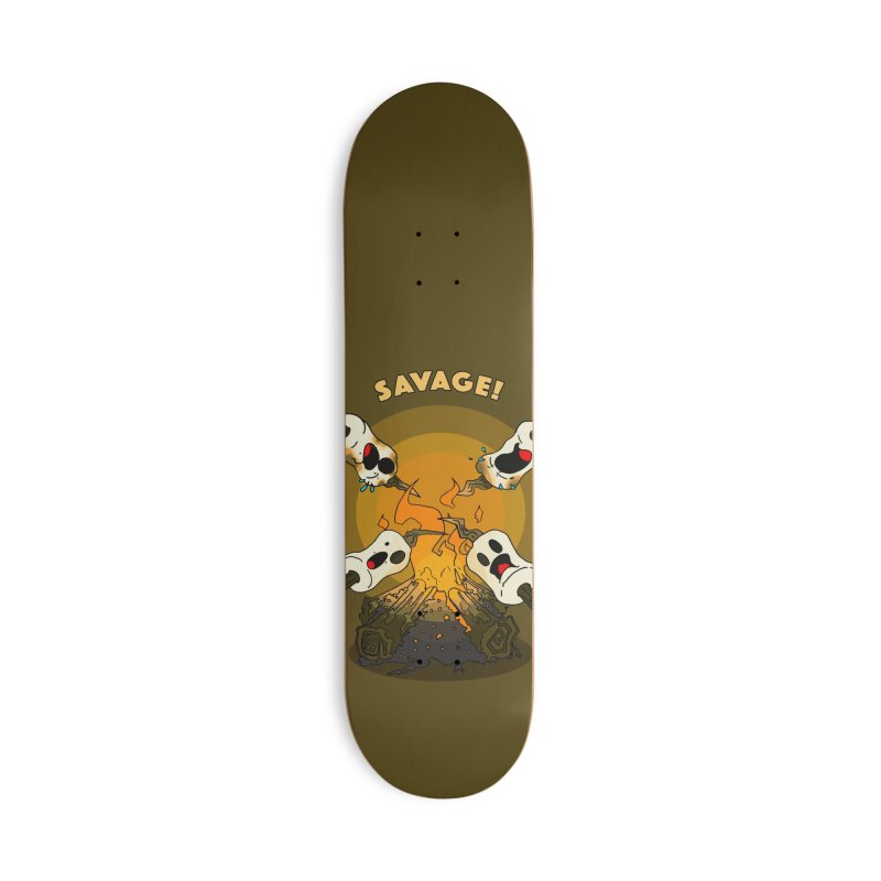Savage Accessories Deck Only Skateboard by Norman Wilkerson Designs