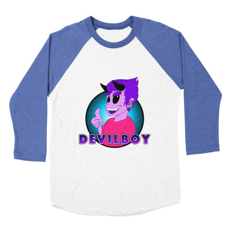 Devilboy Women's Baseball Triblend Longsleeve T-Shirt by Norman Wilkerson Designs