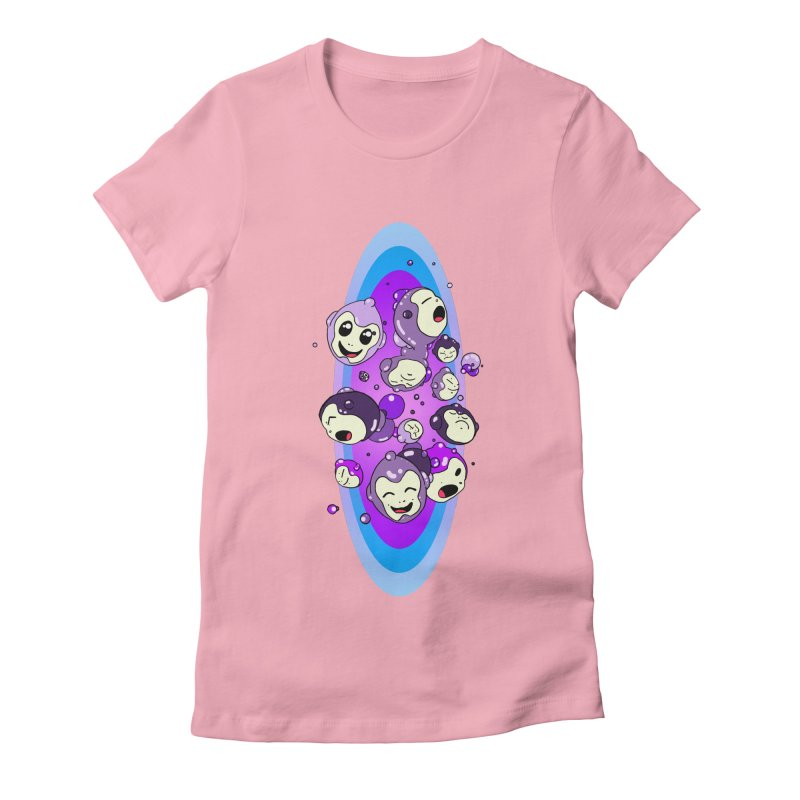 Bubble Man Women's Fitted T-Shirt by Norman Wilkerson Designs