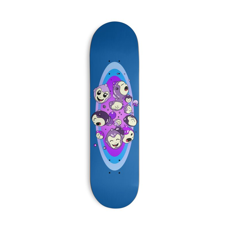 Bubble Man Accessories Deck Only Skateboard by Norman Wilkerson Designs