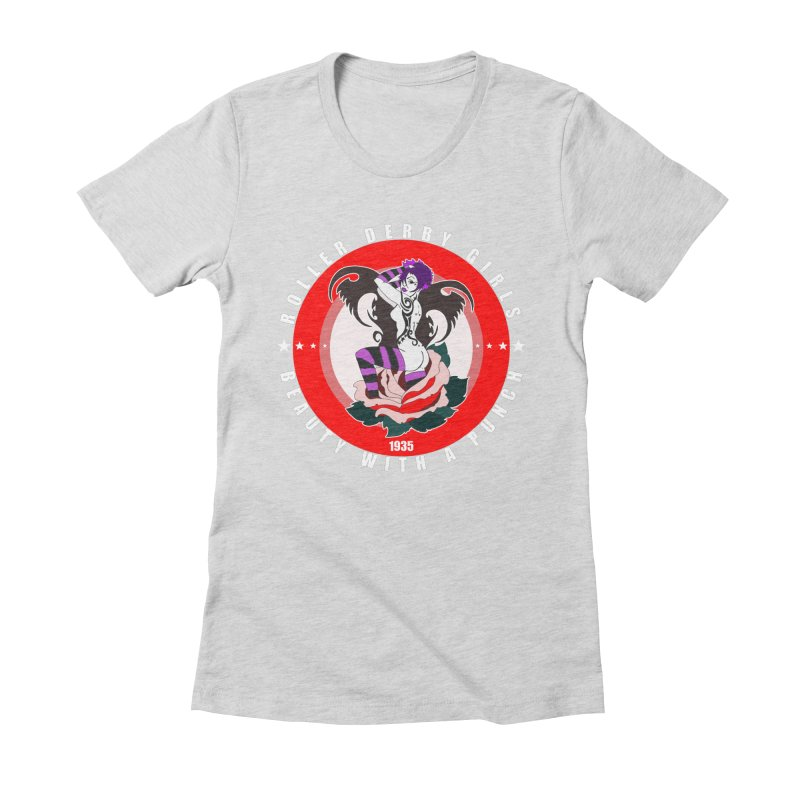 Roller Punch Women's Fitted T-Shirt by Norman Wilkerson Designs