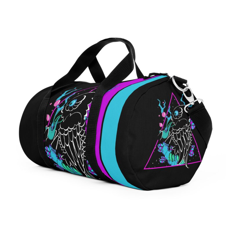 Stellar Crow Accessories Duffel Bag Bag by Norman Wilkerson Designs