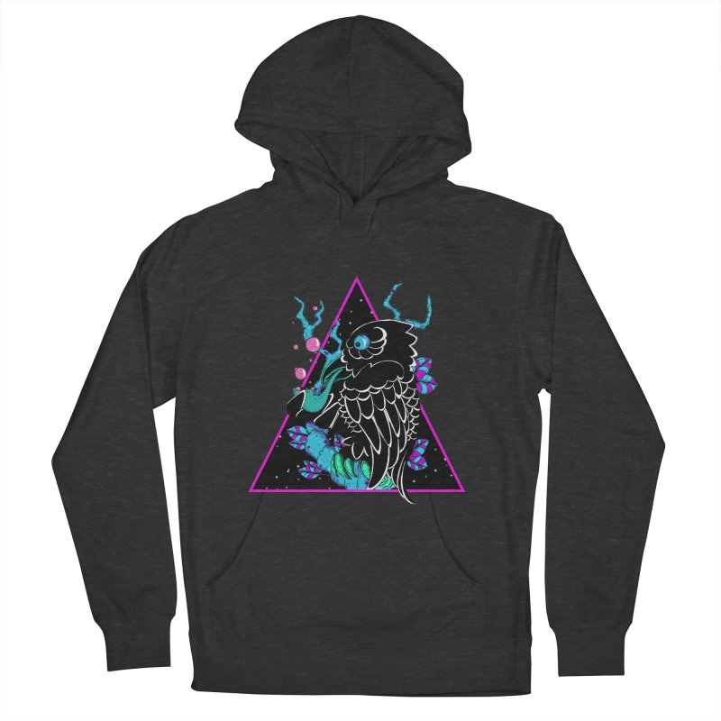 Stellar Crow Men's French Terry Pullover Hoody by Norman Wilkerson Designs