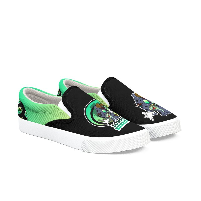 Zombie Burrito Women's Slip-On Shoes by Norman Wilkerson Designs