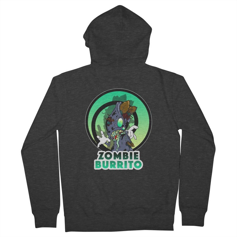 Zombie Burrito Women's French Terry Zip-Up Hoody by Norman Wilkerson Designs
