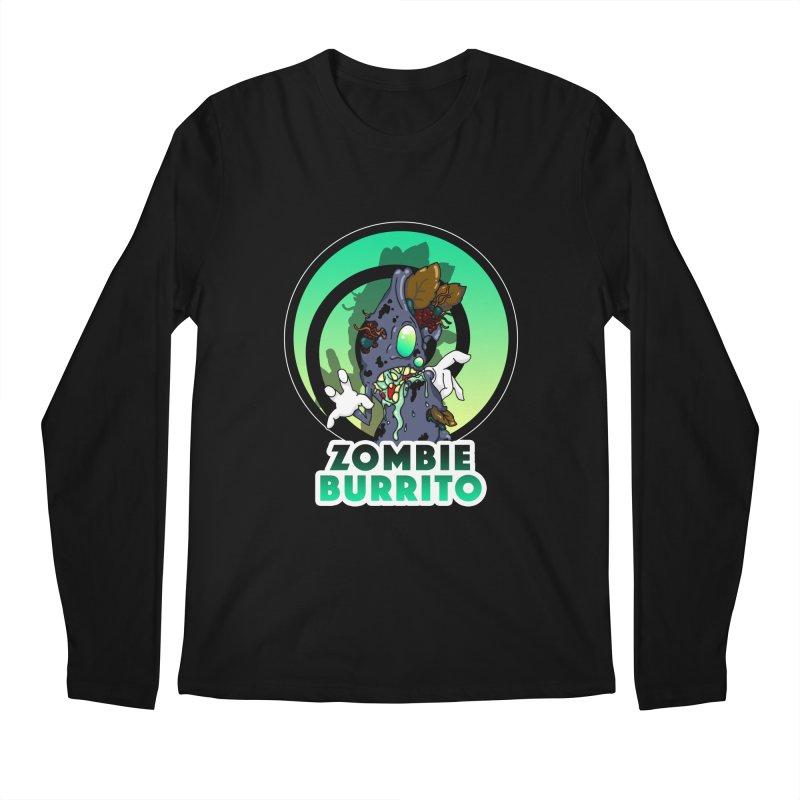 Zombie Burrito Men's Regular Longsleeve T-Shirt by Norman Wilkerson Designs