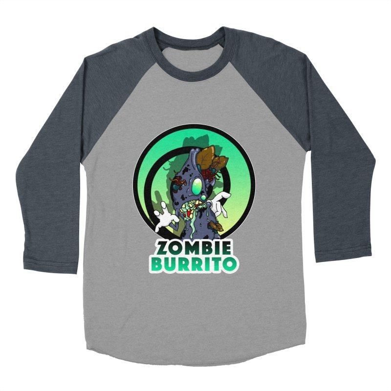 Zombie Burrito Women's Baseball Triblend Longsleeve T-Shirt by Norman Wilkerson Designs