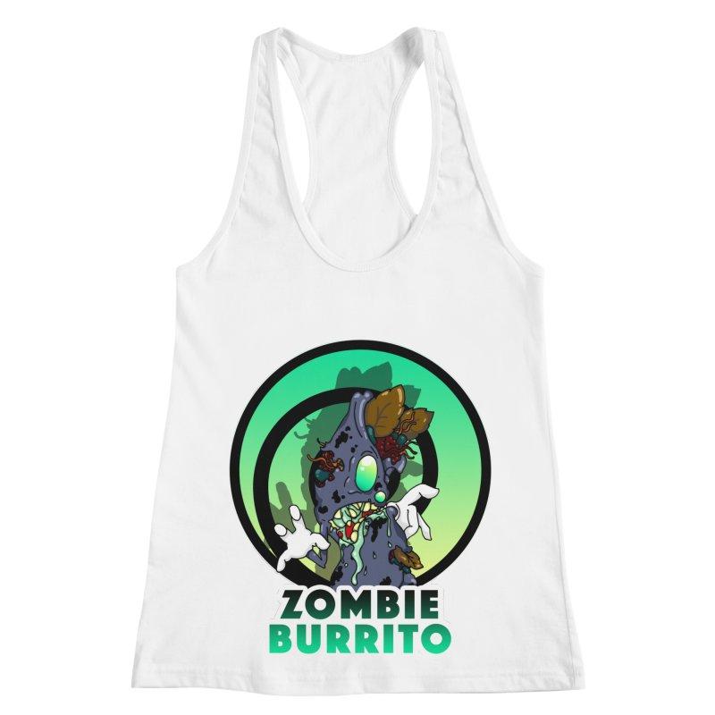 Zombie Burrito Women's Racerback Tank by Norman Wilkerson Designs