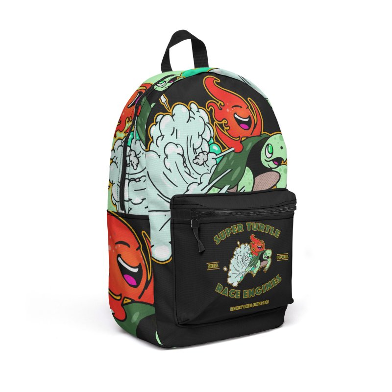Super Turtle Engine Accessories Backpack Bag by Norman Wilkerson Designs