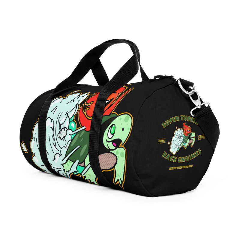 Super Turtle Engine Accessories Duffel Bag Bag by Norman Wilkerson Designs