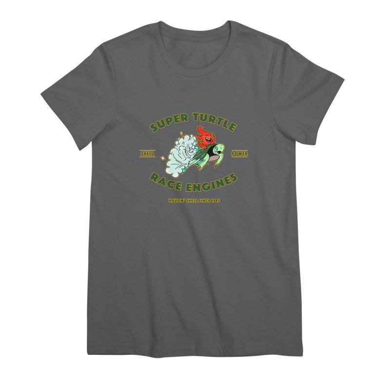 Super Turtle Engine Women's Premium T-Shirt by Norman Wilkerson Designs