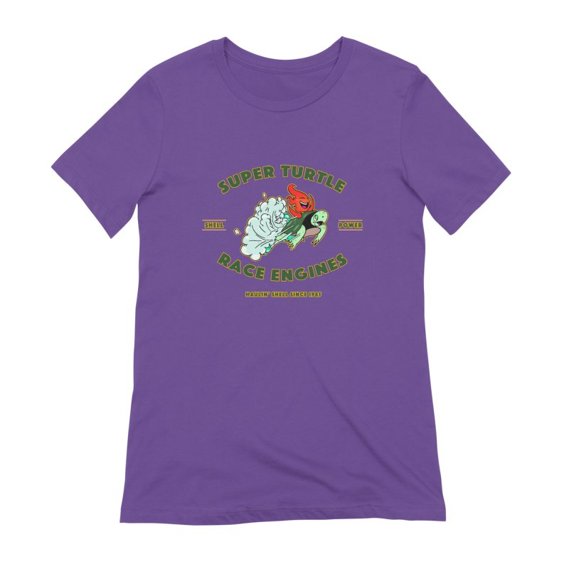 Super Turtle Engine Women's Extra Soft T-Shirt by Norman Wilkerson Designs