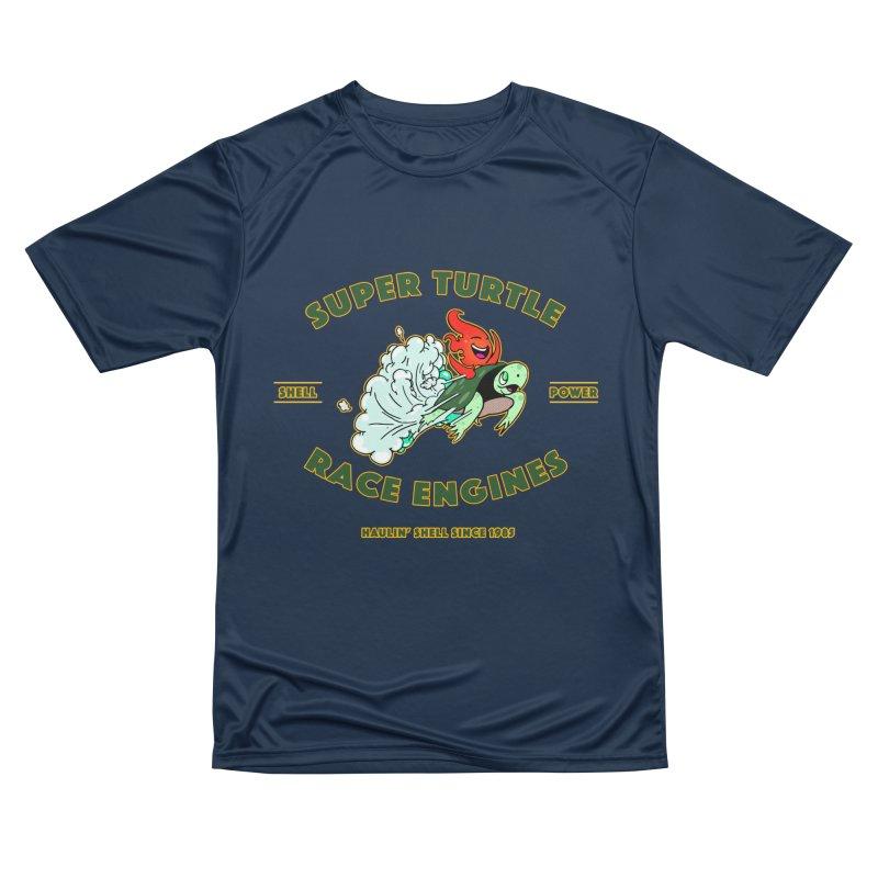 Super Turtle Engine Women's Performance Unisex T-Shirt by Norman Wilkerson Designs