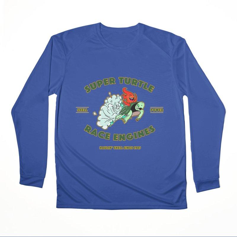 Super Turtle Engine Men's Performance Longsleeve T-Shirt by Norman Wilkerson Designs