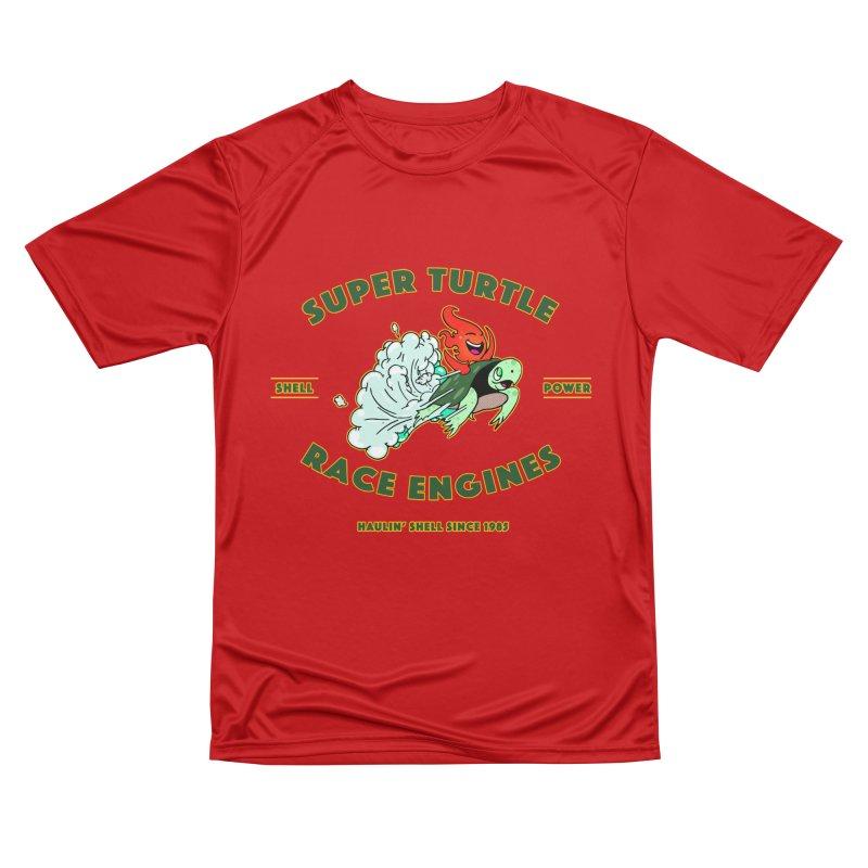 Super Turtle Engine Men's Performance T-Shirt by Norman Wilkerson Designs