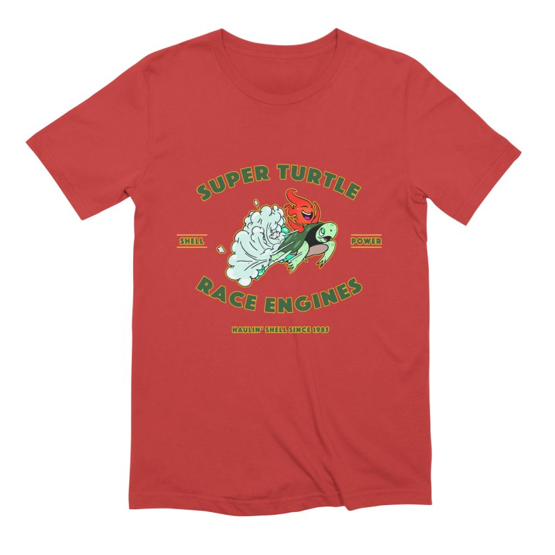 Super Turtle Engine Men's Extra Soft T-Shirt by Norman Wilkerson Designs