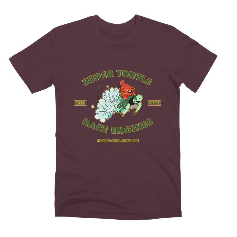 Super Turtle Engine Men's Premium T-Shirt by Norman Wilkerson Designs