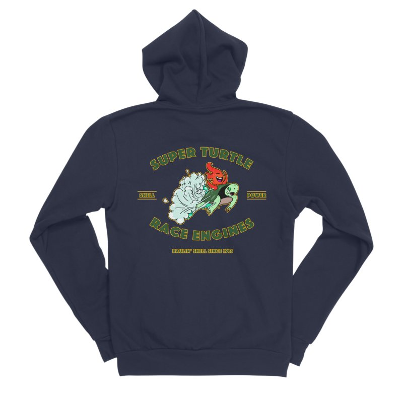 Super Turtle Engine Men's Sponge Fleece Zip-Up Hoody by Norman Wilkerson Designs