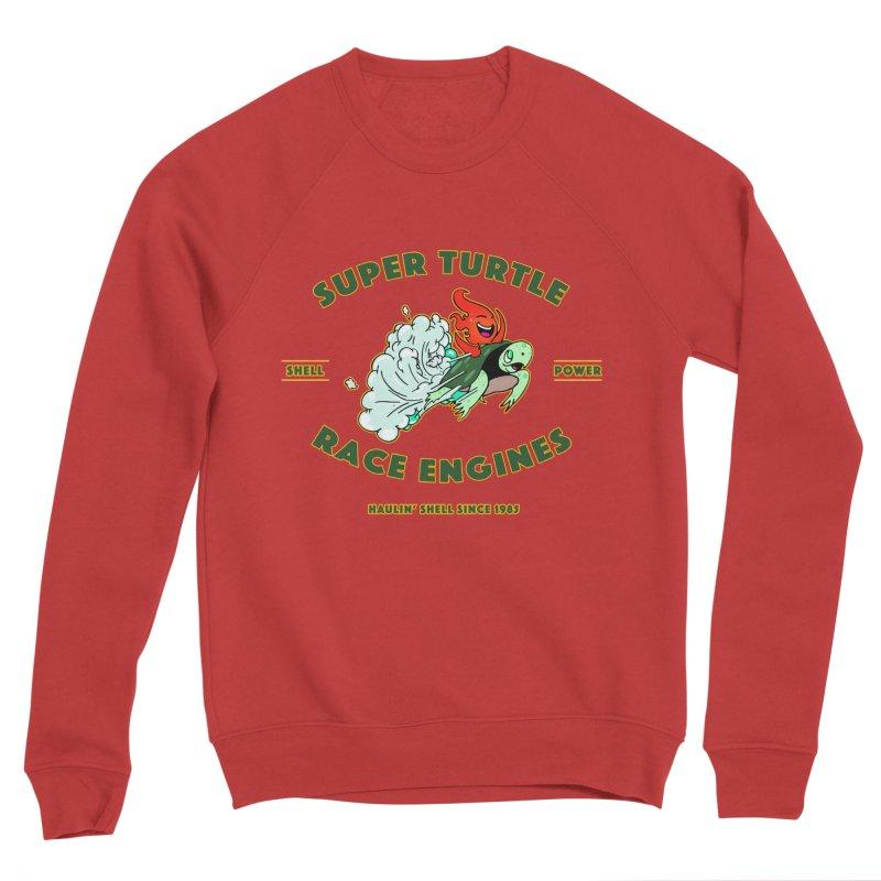 Super Turtle Engine Men's Sponge Fleece Sweatshirt by Norman Wilkerson Designs