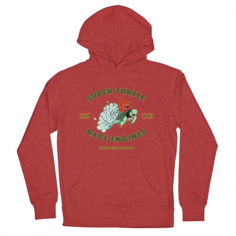 Super Turtle Engine Men's French Terry Pullover Hoody by Norman Wilkerson Designs