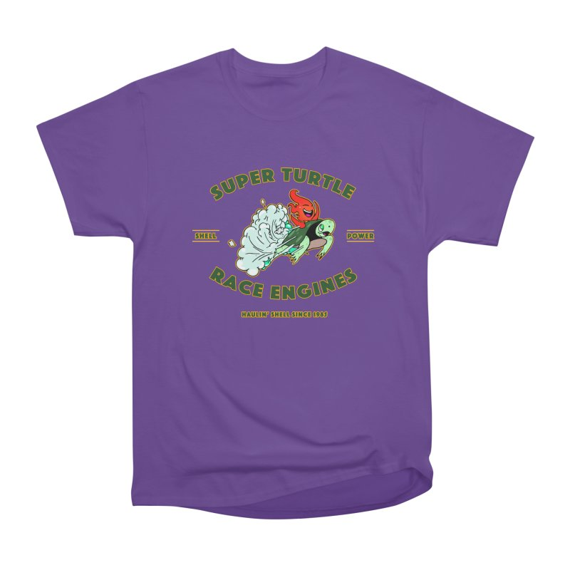 Super Turtle Engine Women's Heavyweight Unisex T-Shirt by Norman Wilkerson Designs