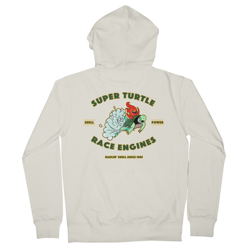 Super Turtle Engine Women's French Terry Zip-Up Hoody by Norman Wilkerson Designs