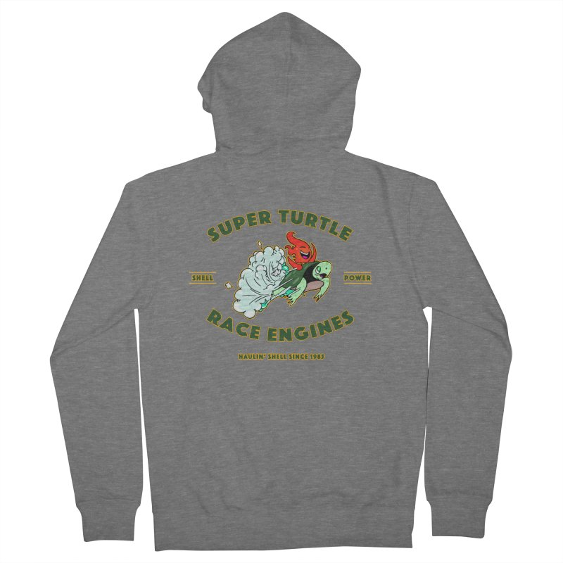 Super Turtle Engine Men's French Terry Zip-Up Hoody by Norman Wilkerson Designs