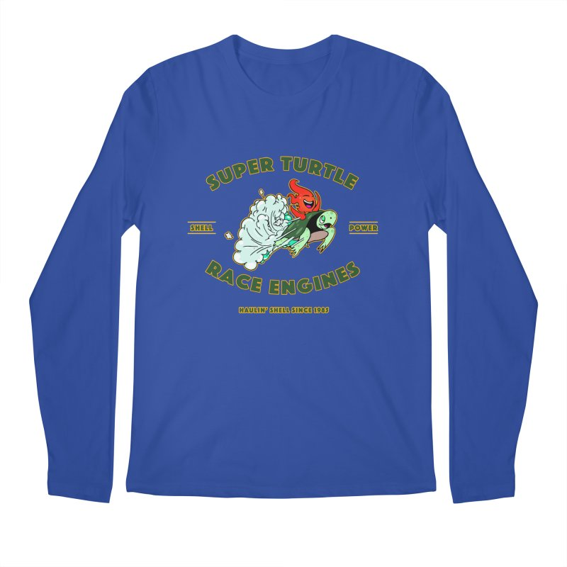 Super Turtle Engine Men's Regular Longsleeve T-Shirt by Norman Wilkerson Designs
