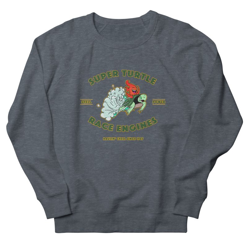 Super Turtle Engine Women's French Terry Sweatshirt by Norman Wilkerson Designs