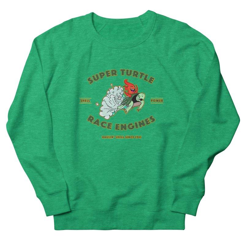 Super Turtle Engine Men's French Terry Sweatshirt by Norman Wilkerson Designs