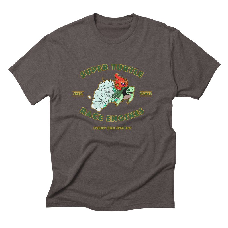 Super Turtle Engine Men's Triblend T-Shirt by Norman Wilkerson Designs