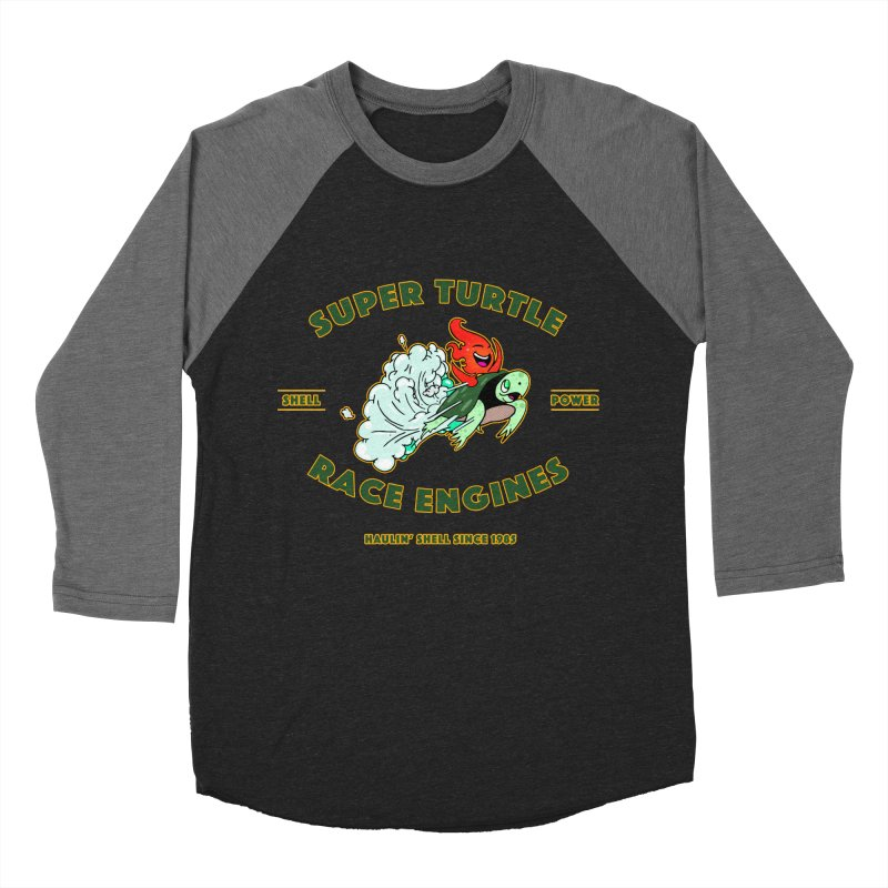 Super Turtle Engine Women's Baseball Triblend Longsleeve T-Shirt by Norman Wilkerson Designs