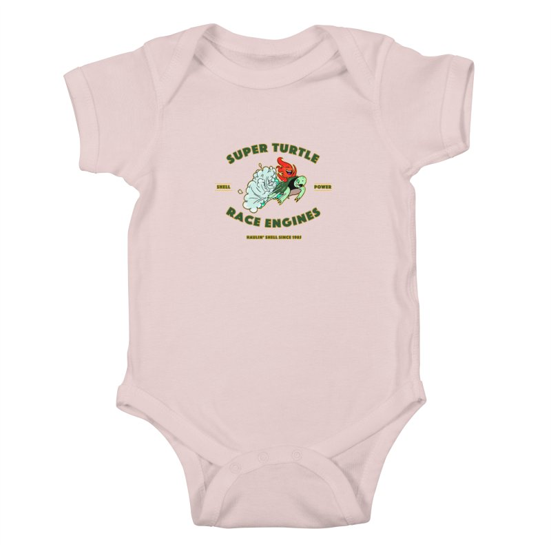 Super Turtle Engine Kids Baby Bodysuit by Norman Wilkerson Designs