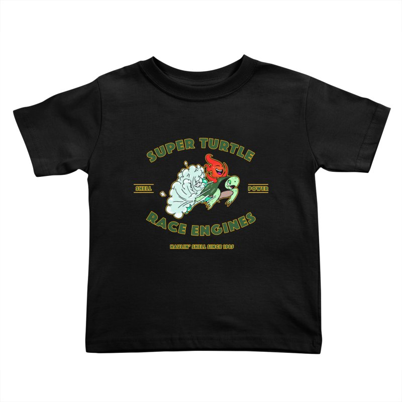 Super Turtle Engine Kids Toddler T-Shirt by Norman Wilkerson Designs