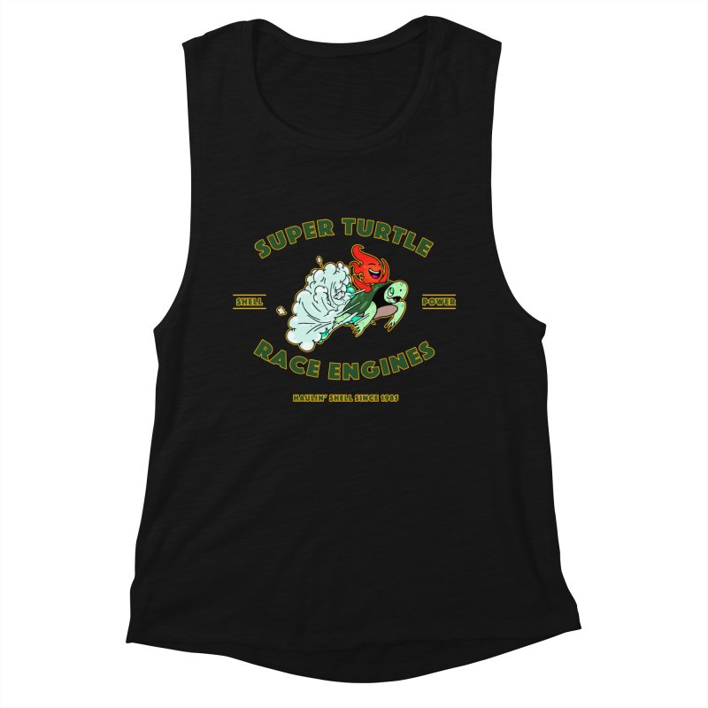 Super Turtle Engine Women's Muscle Tank by Norman Wilkerson Designs