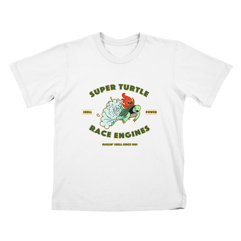 Super Turtle Engine Kids T-Shirt by Norman Wilkerson Designs