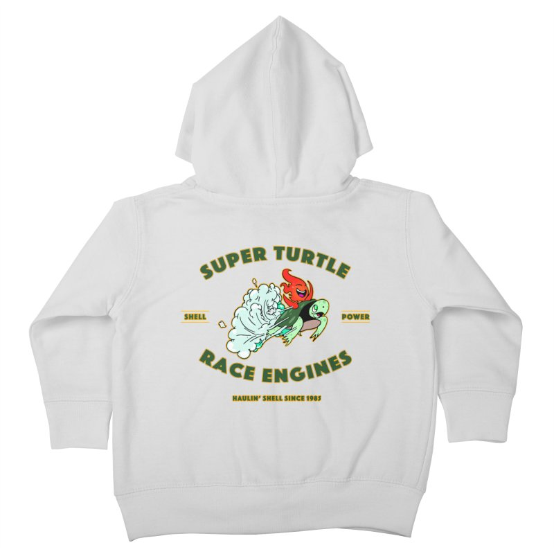 Super Turtle Engine Kids Toddler Zip-Up Hoody by Norman Wilkerson Designs