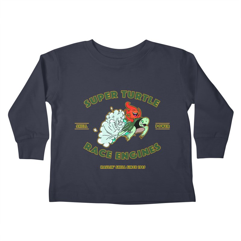 Super Turtle Engine Kids Toddler Longsleeve T-Shirt by Norman Wilkerson Designs