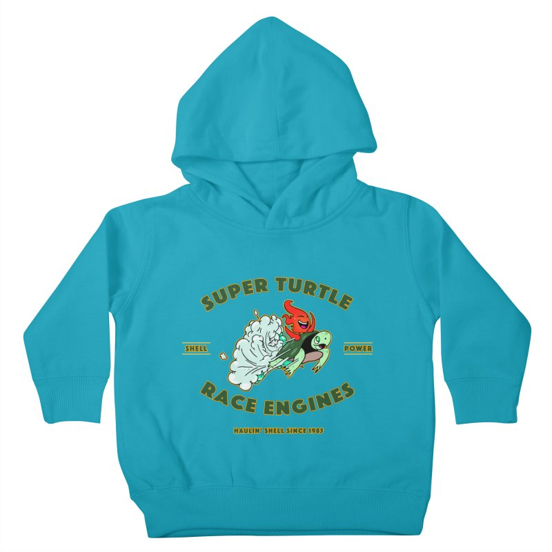 Super Turtle Engine Kids Toddler Pullover Hoody by Norman Wilkerson Designs