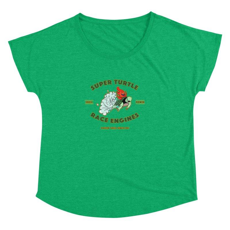Super Turtle Engine Women's Dolman Scoop Neck by Norman Wilkerson Designs