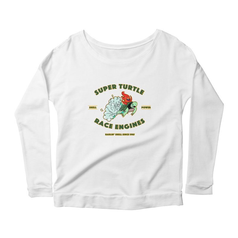 Super Turtle Engine Women's Scoop Neck Longsleeve T-Shirt by Norman Wilkerson Designs