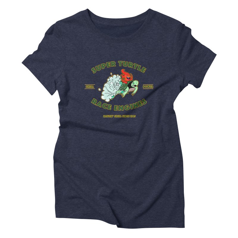 Super Turtle Engine Women's Triblend T-Shirt by Norman Wilkerson Designs