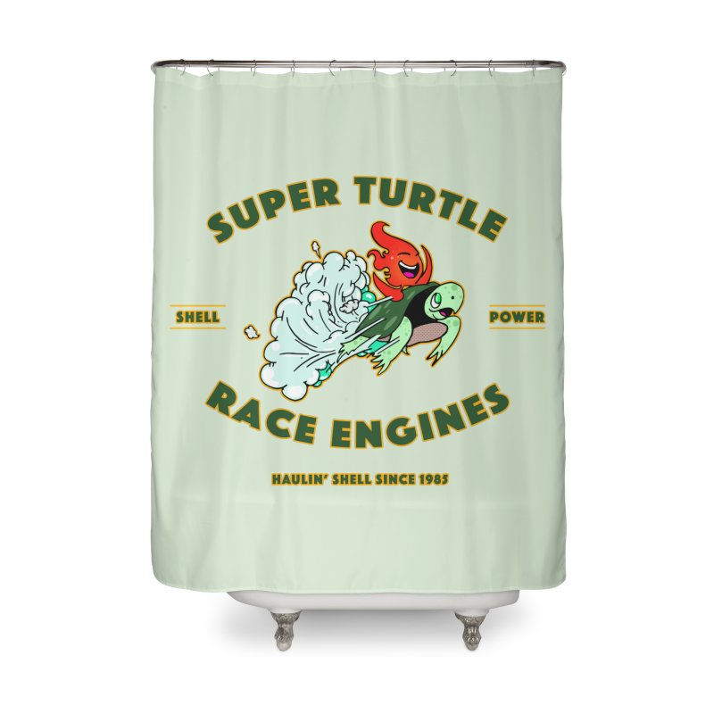 Super Turtle Engine Home Shower Curtain by Norman Wilkerson Designs