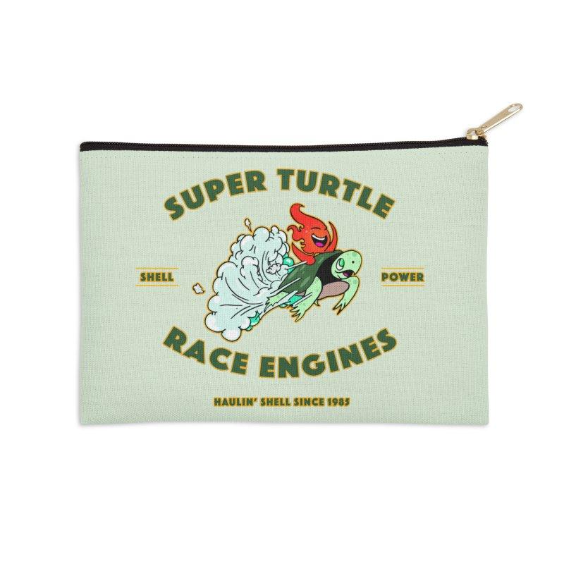 Super Turtle Engine Accessories Zip Pouch by Norman Wilkerson Designs