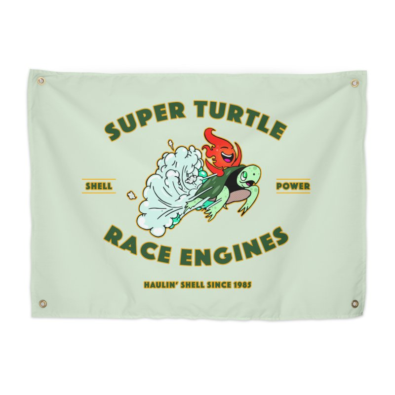 Super Turtle Engine Home Tapestry by Norman Wilkerson Designs