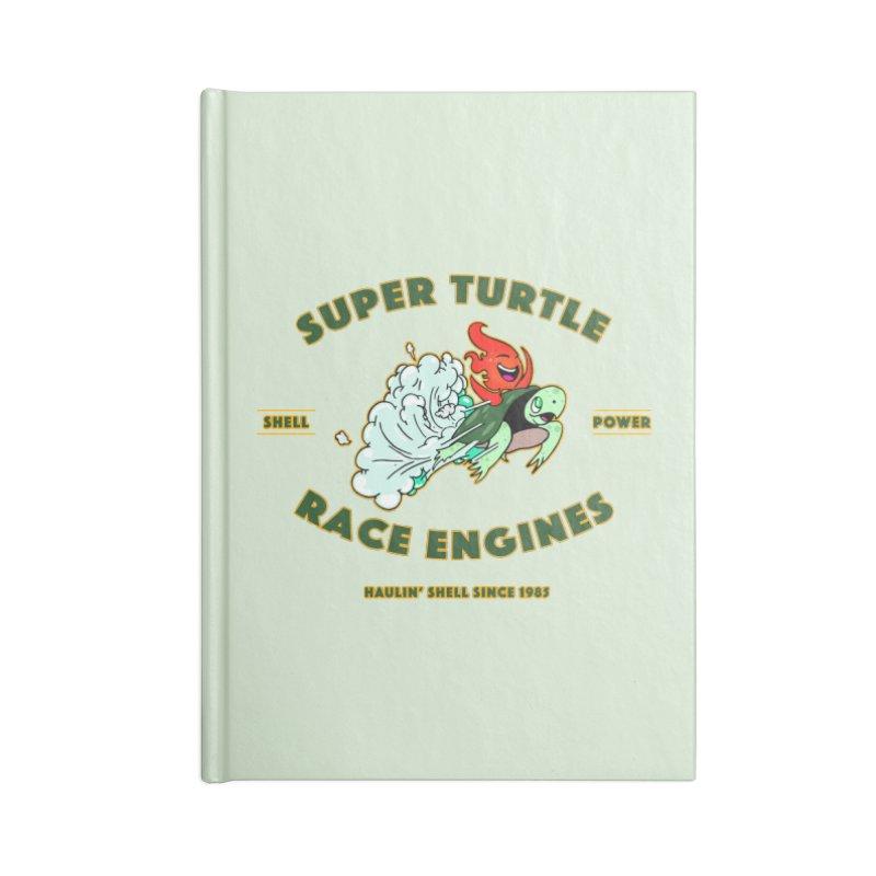 Super Turtle Engine Accessories Blank Journal Notebook by Norman Wilkerson Designs
