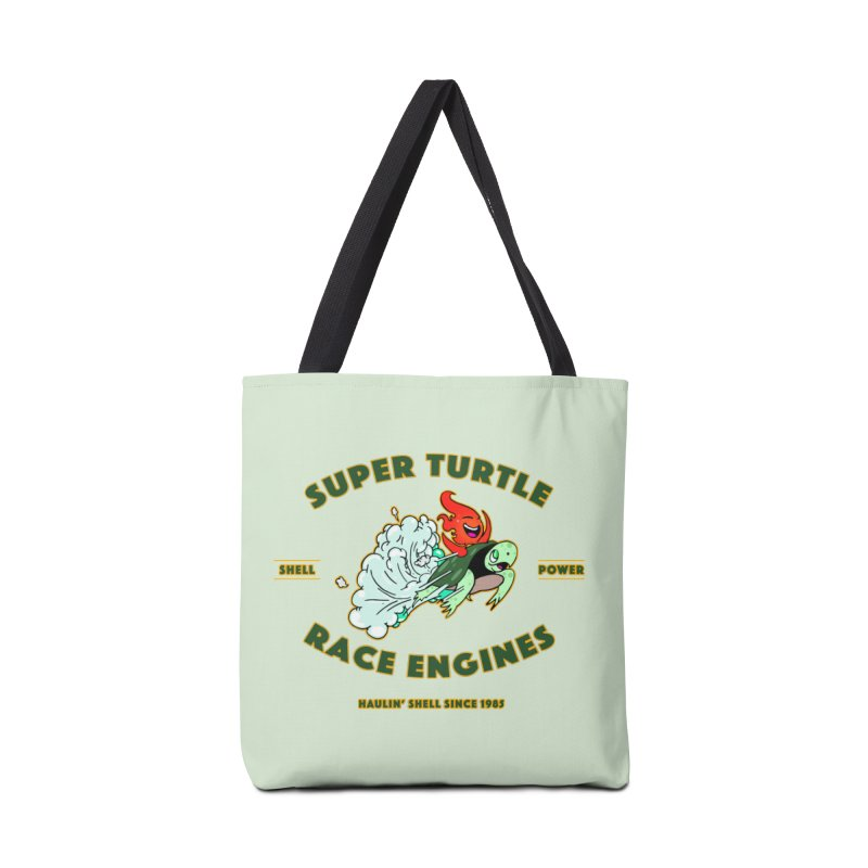 Super Turtle Engine Accessories Tote Bag Bag by Norman Wilkerson Designs
