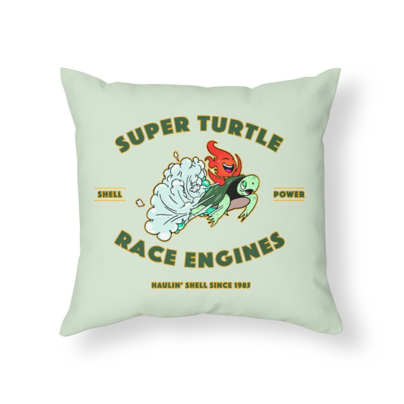 Super Turtle Engine Home Throw Pillow by Norman Wilkerson Designs
