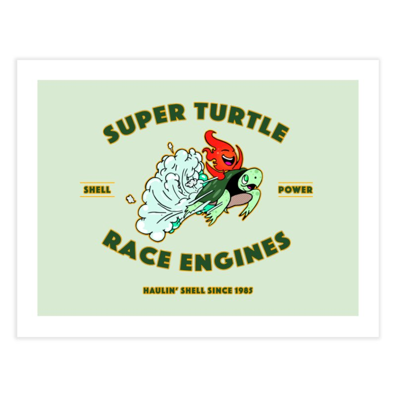 Super Turtle Engine Home Fine Art Print by Norman Wilkerson Designs