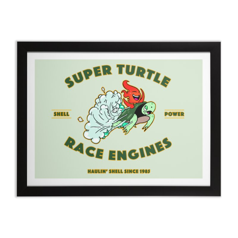 Super Turtle Engine Home Framed Fine Art Print by Norman Wilkerson Designs